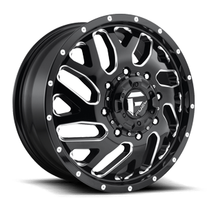 Fuel Dually Wheels Triton Dually Front - D581 8 Gloss Black & Milled