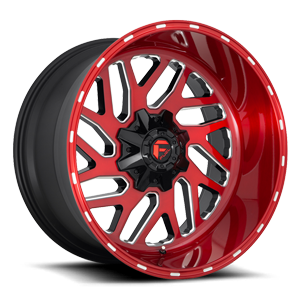 Triton - D691 Brushed Candy Red/Gloss Black/Milled 5 lug