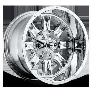 Fuel 1-Piece Wheels Throttle - D512 6 Chrome