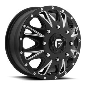 Fuel Dually Wheels Throttle Dually Front - D513 8 Matte Black & Milled