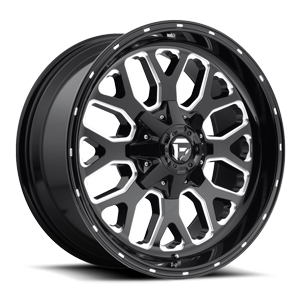 Fuel 1-Piece Wheels Titan - D588 6 Black & Milled