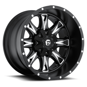 Fuel Dually Wheels Throttle - D513 8 Matte Black & Milled