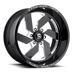 Fuel 1-Piece Wheels Turbo 6 - D582 6 Gloss Black & Milled