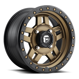Anza - D583 - UTV Bronze w/ Black Ring 4 lug