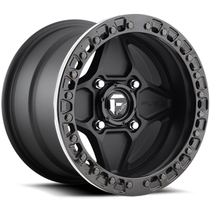 Fuel UTV Wheels Arrow - FF64 - UTV 4 Matte Black w/ Gloss Black Beadlock