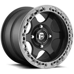 Fuel UTV Wheels Gatling - UTV 4 Matte Black w/ Candy Black BeadLock