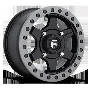 Fuel UTV Wheels Gatling - D914 Beadlock 4 Matte Black w/ Anthracite Ring