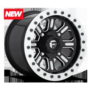 Hardline - D910 Beadlock Gloss Black & Milled 4 lug