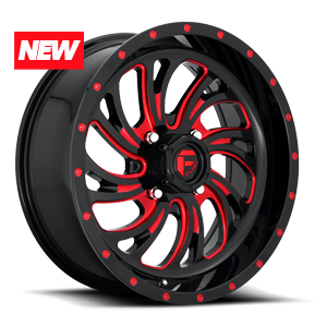 Fuel UTV Wheels Kompressor - D642 - UTV 4 Gloss Black w/ Candy Red