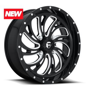 Fuel UTV Wheels Kompressor - D641 - UTV 4 Gloss Black & Milled