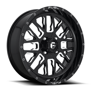 Fuel UTV Wheels Stroke - D611 - UTV 4 Gloss Black & Milled