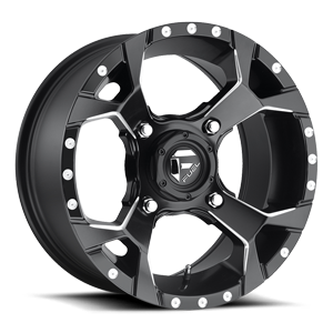 Fuel UTV Wheels Assault - D546 - UTV 4 Black & Milled