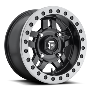 Fuel UTV Wheels Anza - D917 Beadlock 4 Matte Black w/ Anthracite Ring