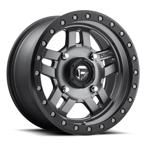 Anza - D558 - UTV Matte Anthracite w/ Black Ring 4 lug