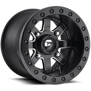 Fuel UTV Wheels Maverick - D938 - Beadlock 4 Black & Milled