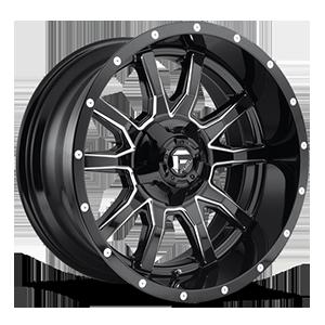 Fuel 1-Piece Wheels Vandal - D627 5 Gloss Black & Milled