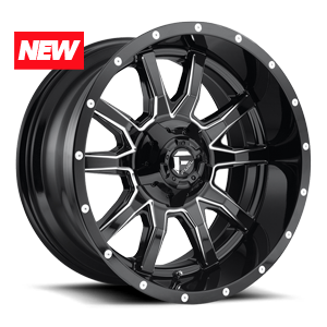Fuel 1-Piece Wheels Vandal - D627 5 Gloss Black & Milled