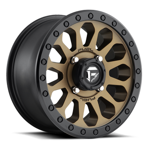 Fuel UTV Wheels Vector - D600 - UTV 4 Bronze w/ Black Ring
