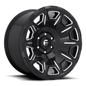 Vengeance - D688 Gloss Black & Milled 5 lug