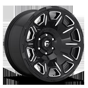 Fuel 1-Piece Wheels Vengeance - D688 5 Gloss Black & Milled