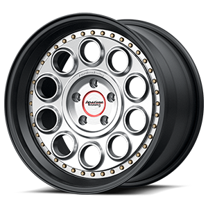 VF309 Satin Black Machined Face 5 lug