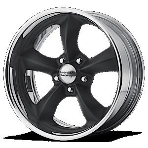 American Racing Custom Wheels VNB425 Torq Thrust SL 5 Hot Rod Black w/Polished Lip