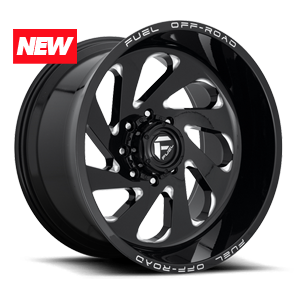 Fuel 1-Piece Wheels VORTEX - D637 8 Gloss Black & Milled