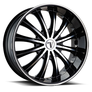 Velocity Wheels VW15 5 Black Machined