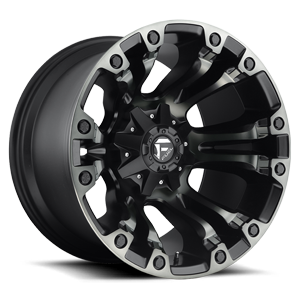 Fuel 1-Piece Wheels Vapor - D569 5 Black w/DDT
