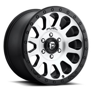 Fuel 1-Piece Wheels Vector - D580 6 Brushed Face | Gloss Black Windows | Gloss Black Ring
