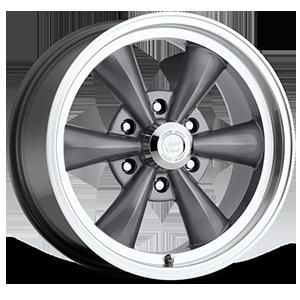 Vision Wheel 141 Legend 6 6 Gunmetal with Machine Lip