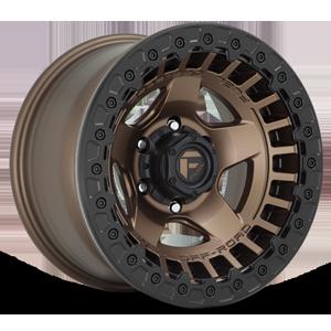 Fuel 1-Piece Wheels Warp Beadlock - D119 6 Matte Bronze w/ Black Ring