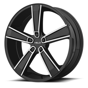 Helo Wheels HE899 5 Satin Black Machined w/ Gloss Black & Chrome Inserts