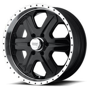 American Racing Custom Wheels AR619 Fuel 6 Glossy Black