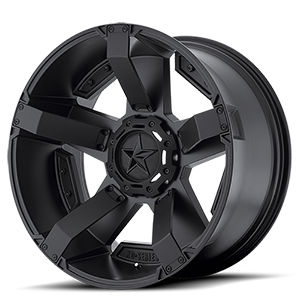 XD Series by KMC XD811 RS2 6 Matte Black w/ Accents