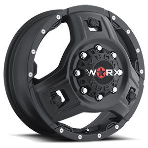 WORX Wheels 801 Triad Dually 8 Satin Black with Spot Milled Dimples