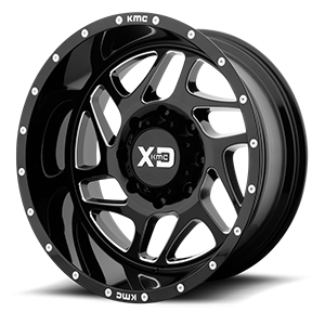XD Series by KMC XD836 Fury 8 Gloss Black Milled