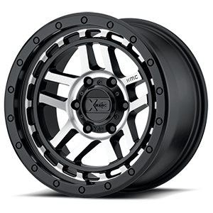 XD140 Recon Satin Black Machined 6 lug