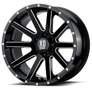 XD Series by KMC XD818 Heist 6 Gloss Black Milled