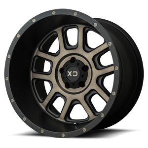 XD Series by KMC XD828 Delta 5 Matte Black w/ Dark Tint Clear