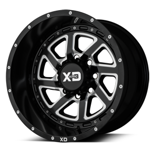 XD Series by KMC XD833 Recoil 8 Satin Black Milled w/ Reversible Ring