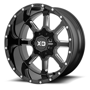 XD Series by KMC XD838 Mammoth 6 Gloss Black Milled