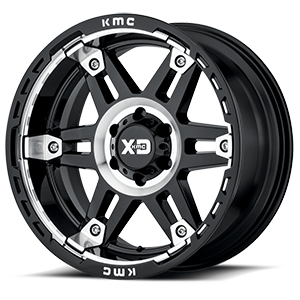 XD Series by KMC XD840 Spy II 6 Gloss Black with Machine Face