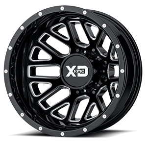 XD Series by KMC XD843 Grenade 8 Gloss Black Milled