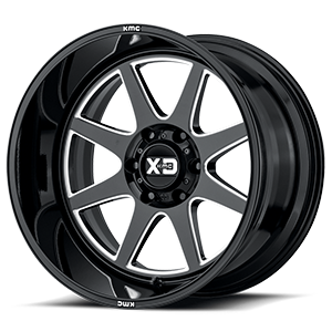 XD844 Pike Gloss Black Milled 6 lug