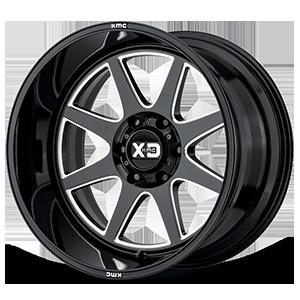 XD844 Gloss Black Milled 6 lug