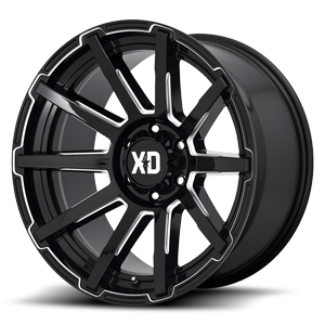 XD Series by KMC XD847 Outbreak 6 Gloss Black Milled