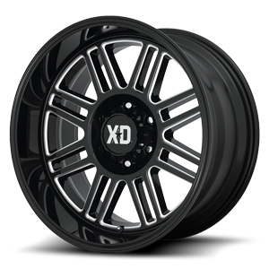 XD Series by KMC XD850 Cage 6 Gloss Black Milled