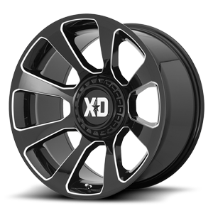 XD Series by KMC XD854 Reactor 6 Gloss Black & Milled