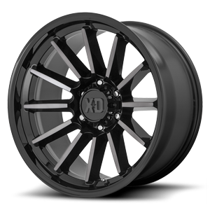 XD Series by KMC XD855 Luxe 6 Gloss Black Machined w/ Gray Tint